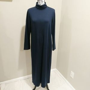 J Jill PureJill Luxe Tencel Turtleneck Maxi Dress